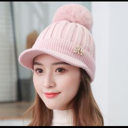 "Женская вязаная шапка ""Beautiful pink"""