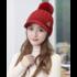 """Женская вязаная шапка """"Beautiful red"""""""