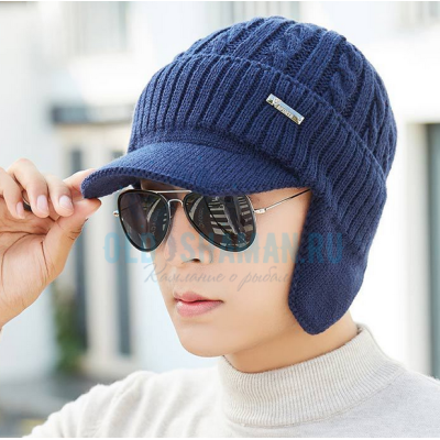 """Рыболовная вязаная шапка """"DSBT"""" (blue)"""