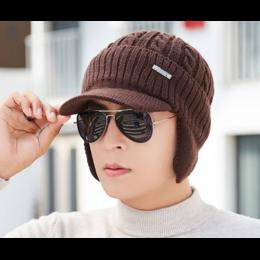 """Вязаная шапка """"DSBT"""" (brown)"""