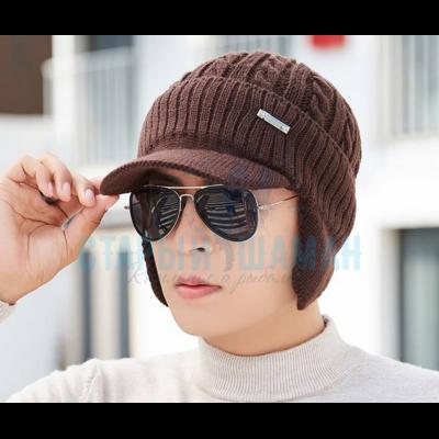 """Рыболовная вязаная шапка """"DSBT"""" (brown)"""