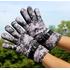 Теплые зимние перчатки PIX (серый камуфляж)