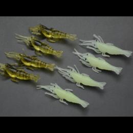 Силиконовые светящиеся креветки 4.5см (1 шт)