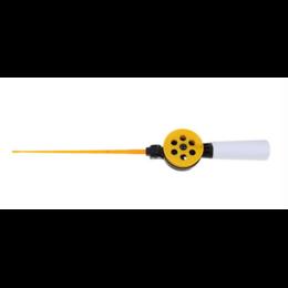 Зимняя удочка со средней пенопластовой ручкой, со складной подставкой (желтая)